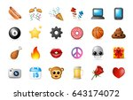24 emoticon on white background.... | Shutterstock .eps vector #643174072