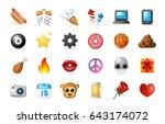 24 emoticon on white background.... | Shutterstock .eps vector #643174072