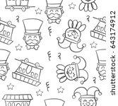 hand draw circus object doodles | Shutterstock .eps vector #643174912
