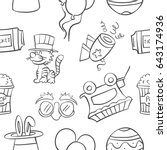 collection stock of circus... | Shutterstock .eps vector #643174936