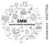 social media marketing  ... | Shutterstock . vector #643177936