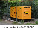 electric generator on outdoor | Shutterstock . vector #643178686