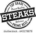 premium steaks restaurant and... | Shutterstock .eps vector #643178878