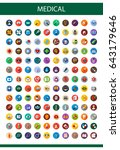 medical flat icons set with... | Shutterstock .eps vector #643179646