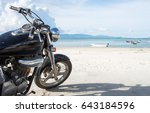 freedom.motorbike at the sand... | Shutterstock . vector #643184596