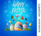 collection of easter egg | Shutterstock . vector #643184872