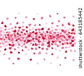 romance red hearts flow pattern.... | Shutterstock . vector #643185442