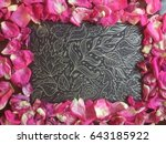 golden doodle floral art with... | Shutterstock . vector #643185922