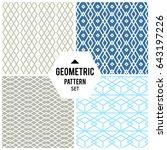 vector seamless pattern.... | Shutterstock .eps vector #643197226