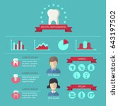 dentist and teeth care... | Shutterstock . vector #643197502