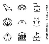 circus icons set. set of 9... | Shutterstock .eps vector #643197955
