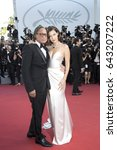 bella hadid and mohamed hadid... | Shutterstock . vector #643207222