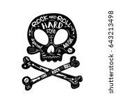 hard rock skull | Shutterstock .eps vector #643213498