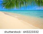 Caribbean Island And Palm...