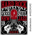 hard rock music poster | Shutterstock . vector #643224142
