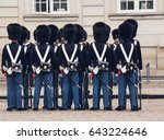 DENMARK, COPENHAGEN - MAY, 07, 2017: Changing the guards - stock photo