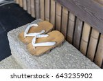 geta or traditional japanese...   Shutterstock . vector #643235902