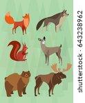 forest animals graphic design... | Shutterstock .eps vector #643238962