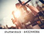 camera gimbal dslr video... | Shutterstock . vector #643244086