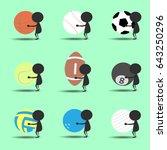 black man character cartoon...   Shutterstock .eps vector #643250296