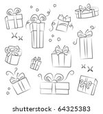 gift box collection. easy to... | Shutterstock .eps vector #64325383