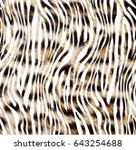 Texture Of Leopard Style Fabric