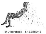 silhouette vector of young... | Shutterstock .eps vector #643255048