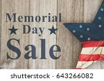 memorial day sale message  usa... | Shutterstock . vector #643266082