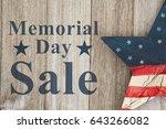 memorial day sale message  usa... | Shutterstock . vector #643266082