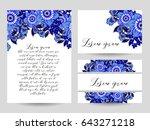 vintage delicate invitation...   Shutterstock .eps vector #643271218