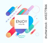 trendy neon lines and circles... | Shutterstock .eps vector #643277866