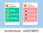 illustration vector of profile... | Shutterstock .eps vector #643278892