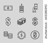 income icons set. set of 9... | Shutterstock .eps vector #643280392