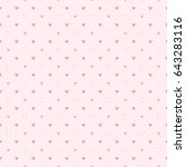 seamless pattern of tiny hearts ... | Shutterstock .eps vector #643283116