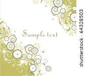 vector floral background | Shutterstock .eps vector #64328503