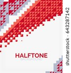 halftone color texture vector... | Shutterstock .eps vector #643287142