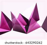 modern abstract geometric...   Shutterstock . vector #643290262