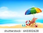 the chair ball starfish and... | Shutterstock .eps vector #643302628
