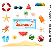 collection of summer design... | Shutterstock .eps vector #643303402