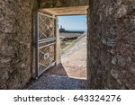 access to the breakwater by the ...   Shutterstock . vector #643324276