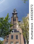Small photo of AMSTERDAM, NETHERLANDS - MAY 10, 2017: Westerkerk Is the largest Protestant church in the whole of Holland. It was officially inaugurated during the day of Pentecost of the year 1631.