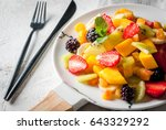 vegan dietary food. vitamins... | Shutterstock . vector #643329292
