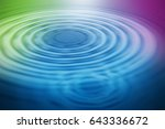 colorful ripple background | Shutterstock . vector #643336672