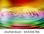 colorful ripple background | Shutterstock . vector #643336786