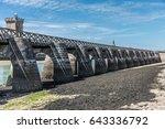 footbridge at low tide in les...   Shutterstock . vector #643336792