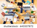 interacting as team for better... | Shutterstock . vector #643337872