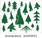 green christmas tree icons | Shutterstock .eps vector #64333921
