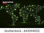 abstract polygonal world map... | Shutterstock .eps vector #643344022