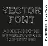 vector linear font. 80's retro... | Shutterstock .eps vector #643354306