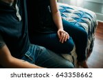 couple at home   Shutterstock . vector #643358662